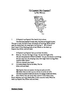 O Captain! My Captain! - Literary Text Test Prep