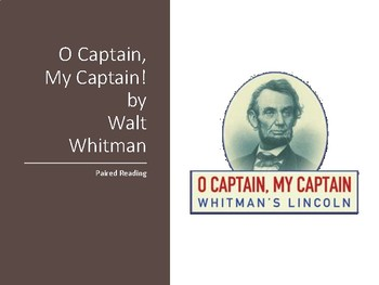 O Captain! My Captain! Paired Reading