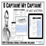 """Poetry Lesson: """"O Captain! My Captain!"""" by W. Whitman {Google Digital Resource}"""