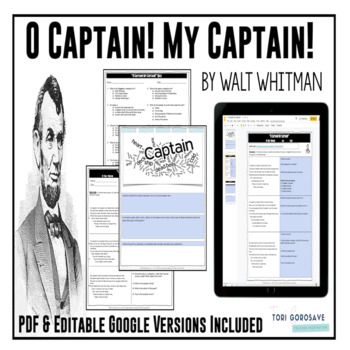 "Poetry Lesson: ""O Captain! My Captain!"" by W. Whitman {Google Digital Resource}"