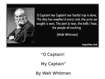 O Captain My Captain Poetry Study