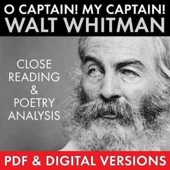 O Captain! My Captain! Walt Whitman Compare & Contrast Poetry, CCSS-aligned