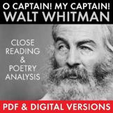 O Captain! My Captain! Walt Whitman Poetry Analysis, PDF & Google Drive, CCSS