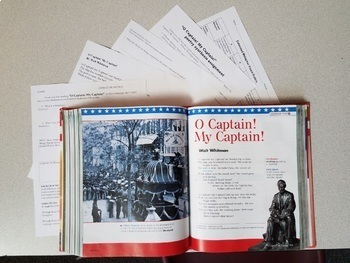 O Captain My Captain extended metaphor poetry analysis writing assignment