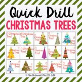Quick Drill Christmas Trees {for speech therapy or any ski