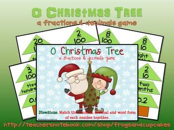 O Christmas Tree: a fractions & decimals game