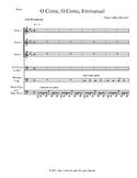 O Come, O Come, Emmanuel - Voice and Percussion