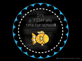 "O'FISH""ALLY a New School Year!"