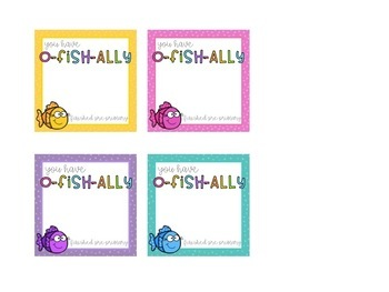 O-FISH-ALLY Start/End of Year Tag