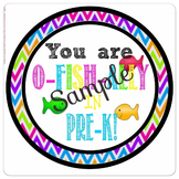 O-Fish-ally In PreK Tags, Chevron, Back to School, Goldfis