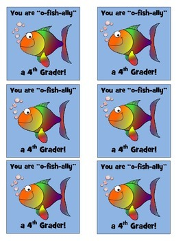 """O-Fish""ally in 4th Grade Labels"
