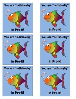 """""""O-Fish""""ally in Pre-K Labels"""