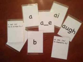 O-G Phonics Cards AND SNAP Cards for Sound/Blending Drill (quality lamination!)