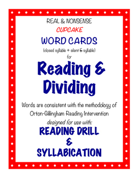 O-G Resource: CUPCAKE Word Cards for Reading, Matching, &