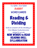 O-G Resource: RABBIT Word Cards for Blending, Reading, & Dividing