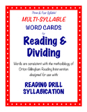 O-G Resource: Three & Four Syllable LARGE Word Cards for SYLLABICATION