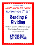 O-G Resource: Three & Four Syllable LARGE Word Cards for SYLLABICATION, 2nd SET