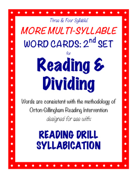 O-G Resource: Three & Four Syllable LARGE Word Cards for S