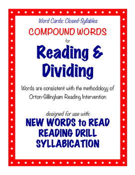 O-G Resource: Compound Word Cards for Blending, Reading, & Dividing