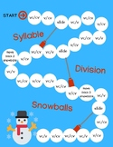 O-G Syllable Division Rules Snowball Game: vc/cv   v/cv   vc/v