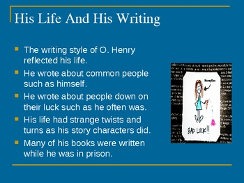 O. Henry And His Short Stories