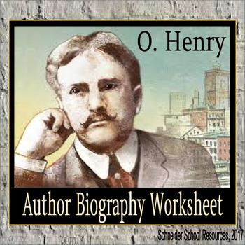 O. Henry Biography Assignment/ Graphic Organizer