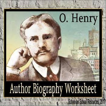O Henry Biography Assignment Graphic Organizer