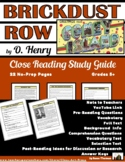 O. Henry: Brickdust Row: Close Reading Study Guide | Dista