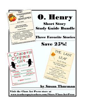O. Henry Bundle 2: Three Close Reading Study Guides