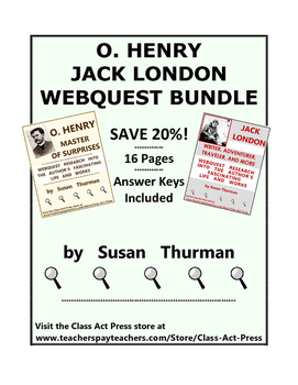 O. Henry, Jack London Webquest Bundle (16 pages; $8, save 20%)