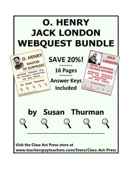 O. Henry, Jack London Webquest Bundle
