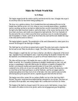 "O. Henry Short Story - ""Make the Whole World Kin"""
