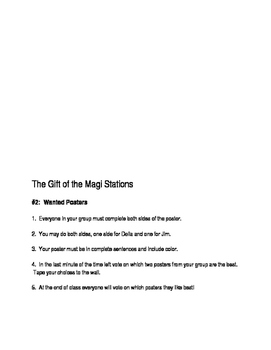 O'Henry's The Gift of the Magi Stations Group Work
