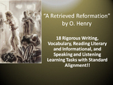 "O. Henry's ""A Retrieved Reformation"" – 18 Common Core Learning Tasks!!"