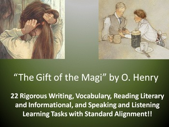 """O. Henry's """"The Gift of the Magi"""" – 22 Common Core Learning Tasks!!"""