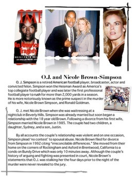 O. J. - Nicole Brown-Simpson - Ronald Goldman