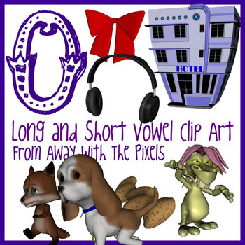 O - Long and Short Vowel Clip Art - Large High Quality Clipart for Teachers