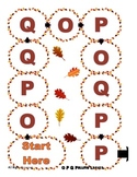 O P Q Letter Recognition Board Game File Folder reading Ce