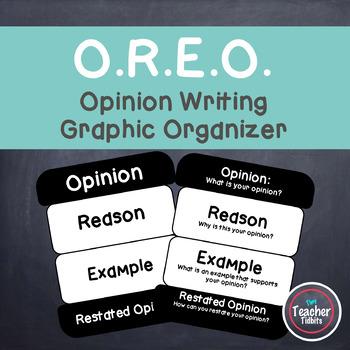 O.R.E.O. Opinion Writing Graphic Organizer