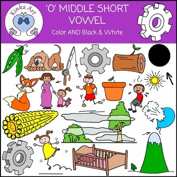 O - Short Vowel Sounds Clip Art
