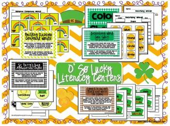 O' So Lucky Literacy Centers