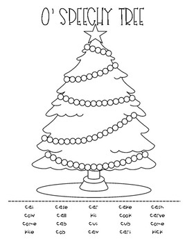 O' Speechy Tree - a low ink, no prep, speech/articulation & language activity