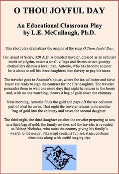 Short Christmas Play.O Thou Joyful Day A Christmas Play