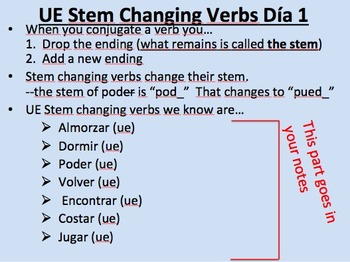 O--UE Stem Changing Verbs__Present Tense__Initial Presentation with Practice
