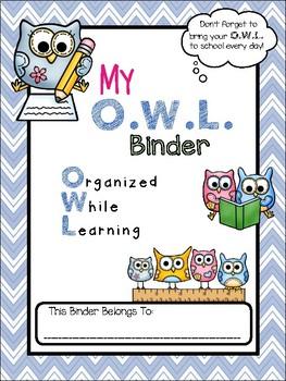O.W.L. Folder Binder Cover