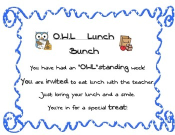 OWL Lunch bunch invitation