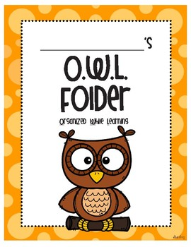 O.W.L. Take Home Folder Cover Page and Letter