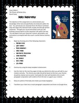 O. Wilde's The Picture of Dorian Gray (Alt. Assess - Body Bio.)