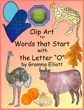 O Word Clip Art - Beginning Letter Phonics