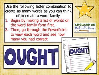 """""""O"""" Word Family Bundle"""
